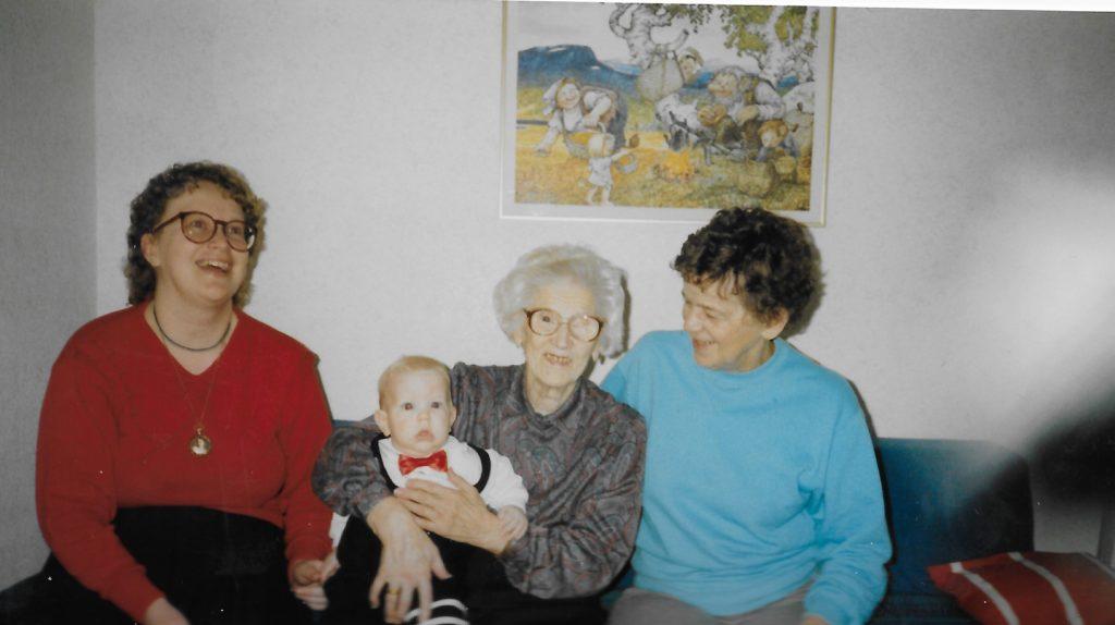 Fyra generationer, Ingela, Anton, Anna och Gunhild
